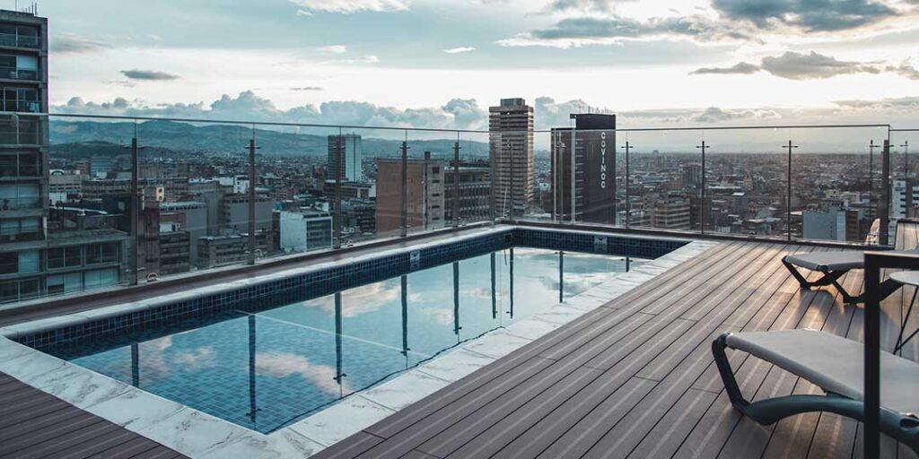 Vista occidental desde terraza.Torre Barcelona Centro, Bogotá.